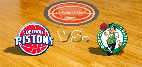 The Pistons vs. The Celtics