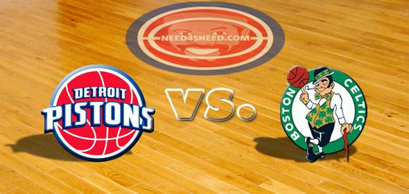 The Pistons vs. The Celtics