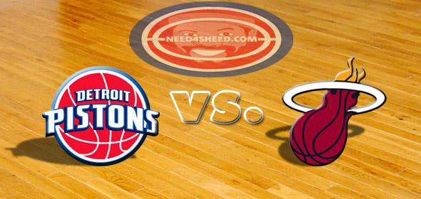 The Pistons vs. The Heat