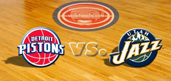 The Pistons vs. The Jazz