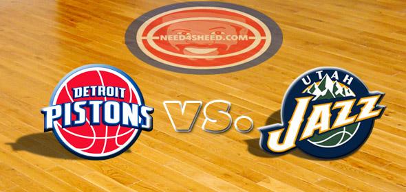 The Pistons vs. The Jazz