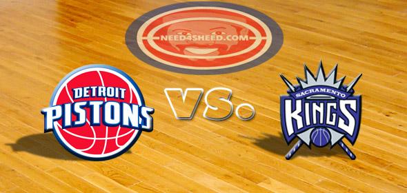 The Pistons vs. The Kings
