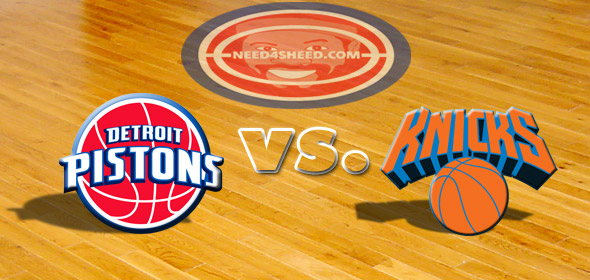 The Pistons vs. The Knicks