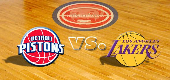 Pistons Vs Lakers: The Pistons Vs. The Lakers