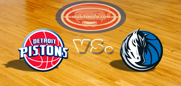 The Pistons vs The Mavericks