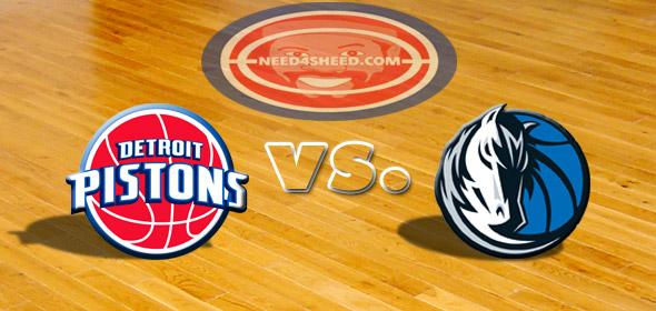 The Pistons vs. The Mavericks