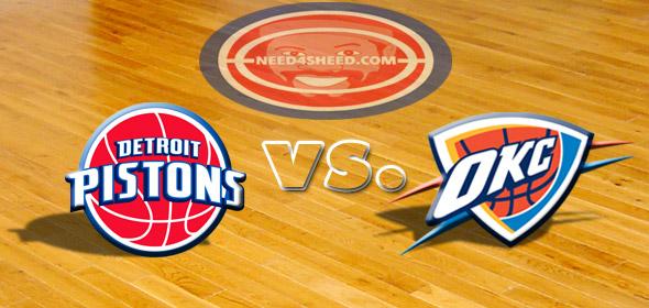 The Pistons vs. The Thunder