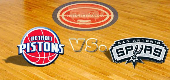 The Pistons vs. The Spurs