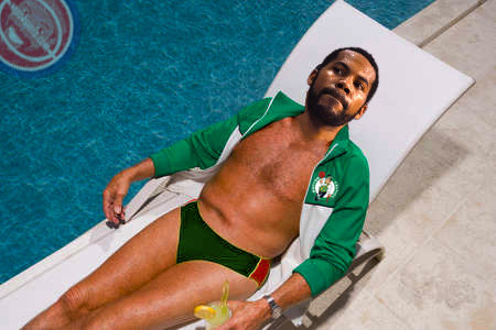 Rasheed Wallace by the Pool