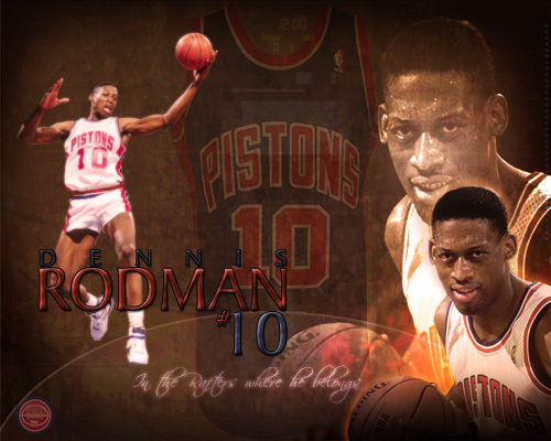 Dennis Rodman Jersey Retirement Wallpaper