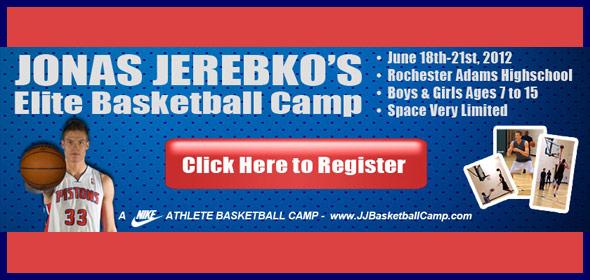 Jonas Jerebko wants to School You! At his Basketball Camp