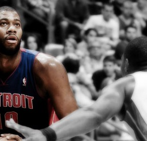 Greg Monroe Pistons vs Heat