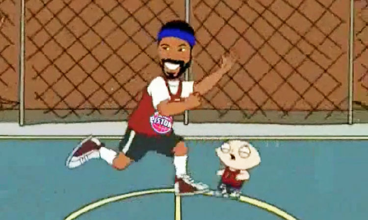 Rasheed Wallace on Family Guy